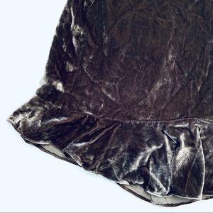 Madewell Skirts - Madewell Gray Bronze Velvet Ruffle Skirt New 2